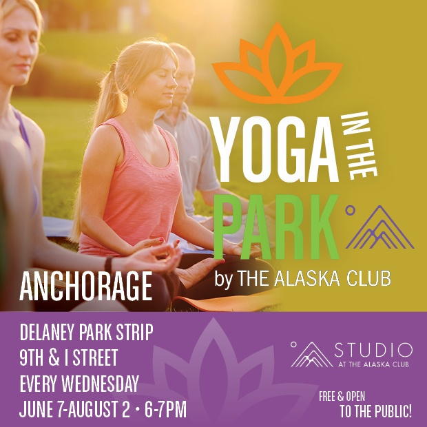Yoga in the Park 2017 in Anchoage