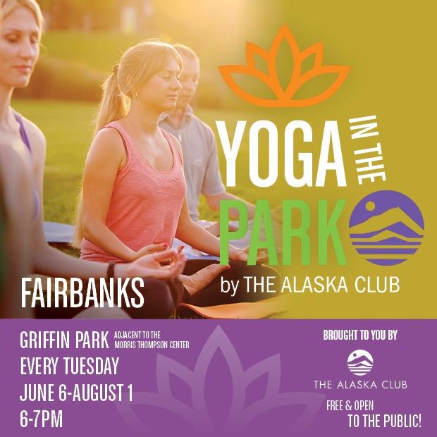 Yoga in the Park 2017 in Fairbanks