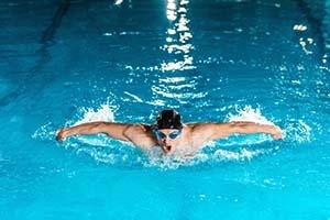 Swimmer at The Alaska Club pool