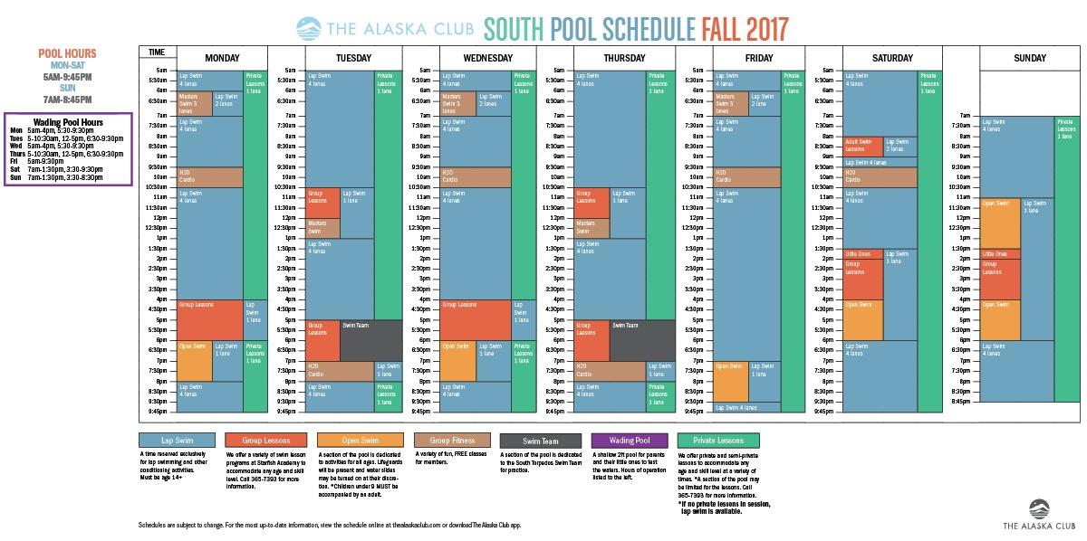 Fall 2017 Pool Schedule
