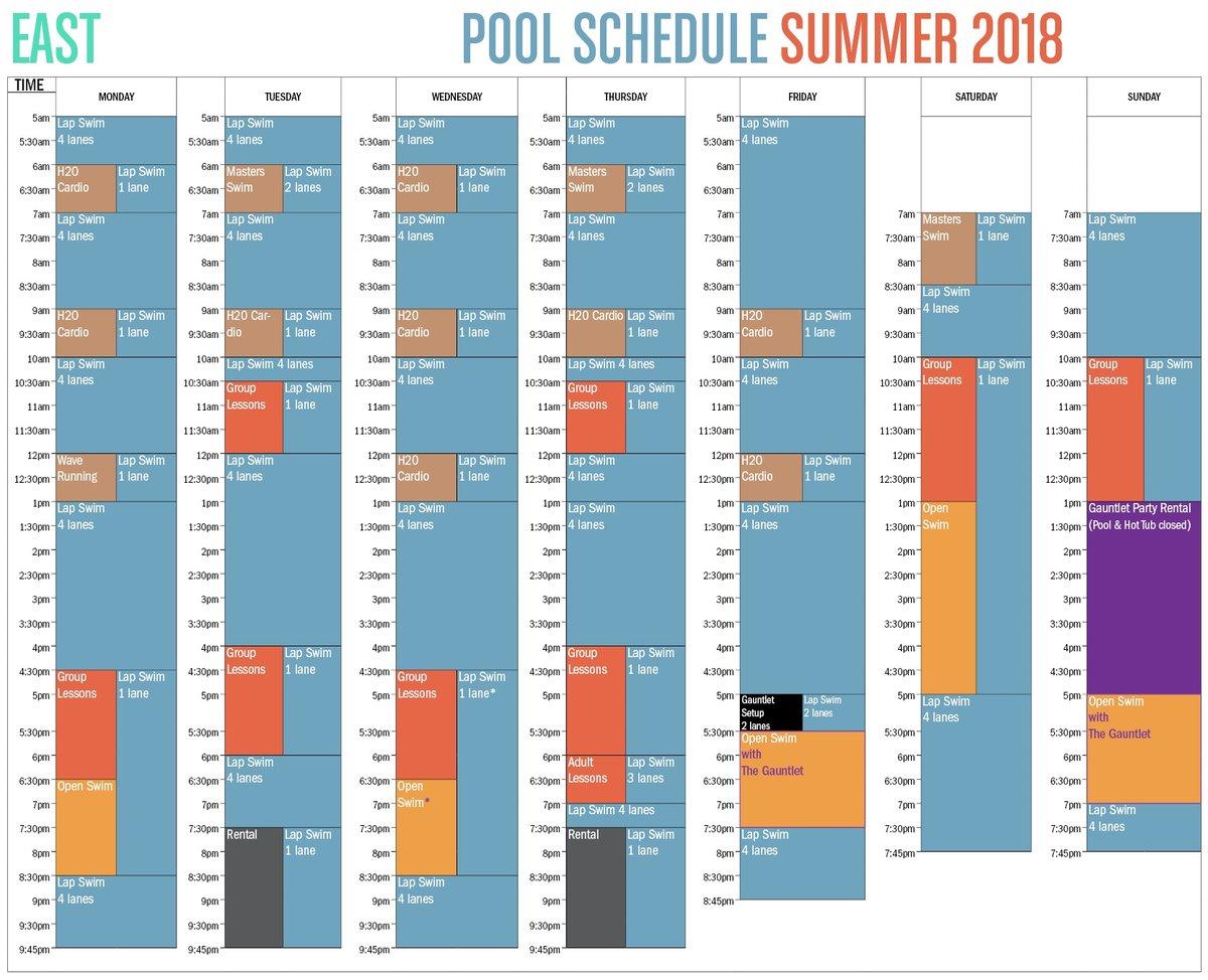 East Pool Schedule The Alaska Club