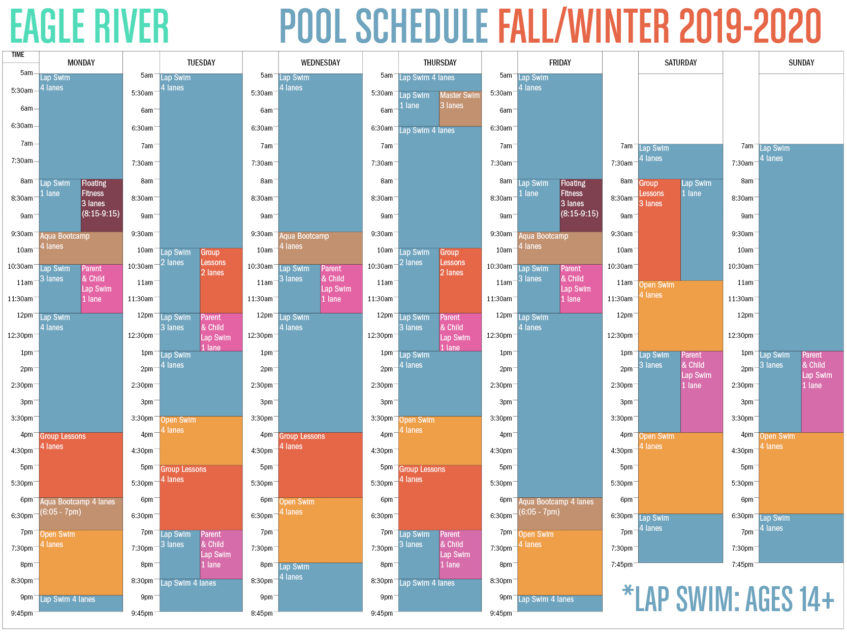 Fall-Winter Eagle River Pool Schedule